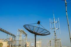 Satelitarna talerzowa antena Zdjęcia Stock