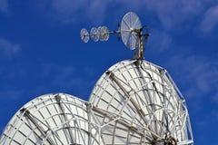 Satelitarne anteny Zdjęcia Stock