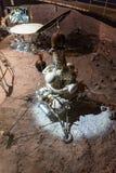 Satelitarni modułów szczegóły na pokazie wśrodku muzeum kosmonautyka Zdjęcie Royalty Free