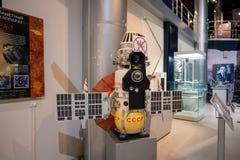 Satelitarni modułów szczegóły na pokazie wśrodku muzeum kosmonautyka Obraz Royalty Free