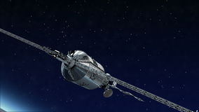Satelitarny latanie nad ziemią ilustracja wektor