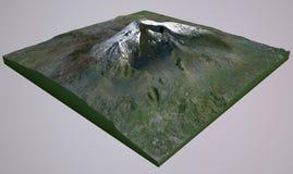 Satelitarny widok góra Etna Obraz Stock