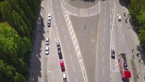 Satelitarny widok Niemiecka aleja zdjęcie wideo