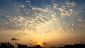 Satelitarny zmierzch i niebo Obraz Stock