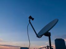 Satelite 1. Small satelite in blue sky Royalty Free Stock Photos