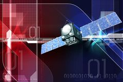 Satelite. Digital illustration of satelite in digital background royalty free illustration