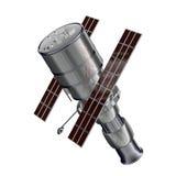 Satelite. 3D model of spy Satelite vector illustration