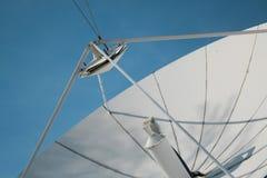 Satelite. Giant satelite next to TV cempany building Stock Photos