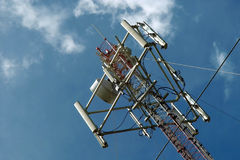 Satelite, antennas & sky Stock Photo