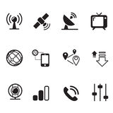 Satelite communication technology icons Stock Images