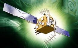 Satelite. Digital illustration of a satelite in digital background royalty free stock photo