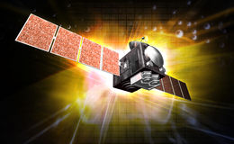 Satelite. Digital illustration of a satelite in digital background vector illustration