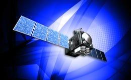 Satelite. Digital illustration of a satelite in digital background stock illustration