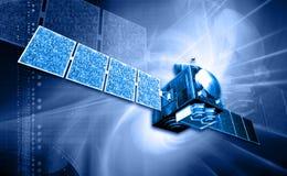 Satelite. Digital illustration of a satelite in digital background royalty free illustration