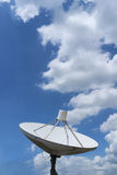 Satelite dish. On blue sky &cloude Stock Photography