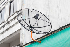 Satelite dish. On the house roof Stock Images