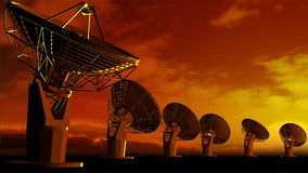 Satelite dishes stock video footage