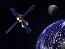 Satelite in earth orbit Stock Image