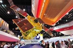Satelitte der St.-Elektronikhandelserdbeobachtung TELEOS-1 auf Anzeige in Singapur Airsho Stockbild