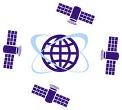 Satelitte and globe Royalty Free Stock Photo