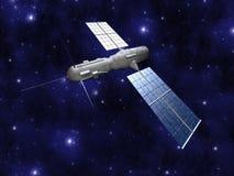 Satelitte - Starfield Hintergrund Stockfotografie