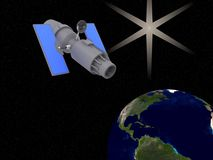 Satelity kula ziemska gwiazdowa światowa Zdjęcie Royalty Free