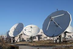 Satelity ziemia otrzymywa stację w Pekin Chiny zdjęcie stock