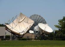 Satelliet antennes Stock Afbeelding