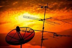 Satelliet basis Stock Foto