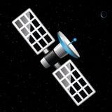 Satelliet blauwe Planeet Stock Fotografie
