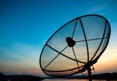 Satelliet in de avond Stock Afbeeldingen