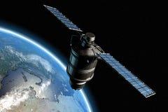 Satelliet en aarde 10 Royalty-vrije Stock Afbeelding