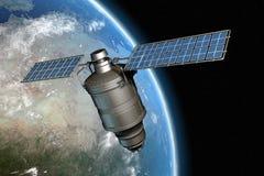 Satelliet en aarde 11 Royalty-vrije Stock Foto
