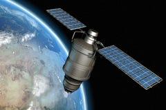Satelliet en aarde 12 Stock Afbeeldingen