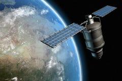 Satelliet en aarde 14 Stock Fotografie