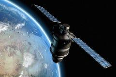 Satelliet en aarde 9 Royalty-vrije Stock Fotografie