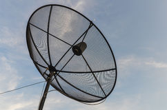 Satelliet en Hemel Royalty-vrije Stock Afbeelding