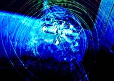 Satelliet en lichteffecten Stock Afbeeldingen