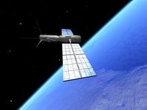 Satelliet over aarde 2 stock illustratie