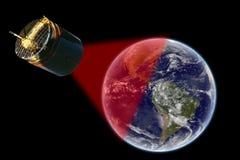 Satelliet over Amerika - Elementen van dit die beeld door NASA wordt geleverd Stock Afbeelding