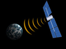 Satelliet in ruimte Royalty-vrije Stock Foto's