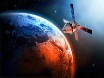 Satelliet in ruimte Royalty-vrije Stock Afbeeldingen