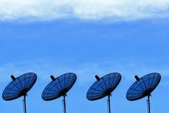 Satelliet Schotel Royalty-vrije Stock Afbeeldingen