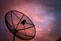 Satelliet schotel Stock Afbeeldingen