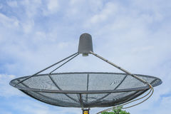 Satelliet schotel Stock Foto