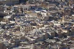 Satelliet schotel in Fez Stock Fotografie