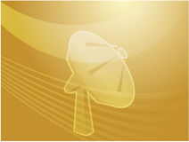 Satelliet schotel telecommunicatieillustratie Stock Afbeelding
