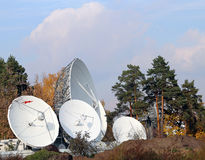Satelliet schotels Royalty-vrije Stock Fotografie