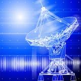Satelliet schotelsantena Stock Afbeeldingen