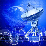 Satelliet schotelsantenne Royalty-vrije Stock Fotografie